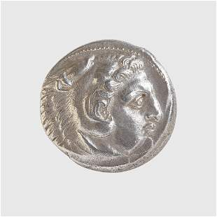 ALEXANDER THE GREAT SILVER TETRADRACHM GREECE,