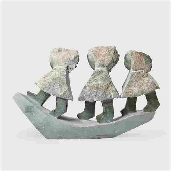 DOMINIC BENHURA (SHONA B.1968 -), THREE CHILDREN, 2001