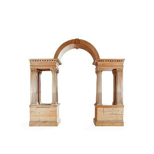 GEORGE II STRIPPED PINE PALLADIAN ARCH AND COLUMNS MID