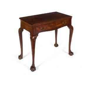 LATE GEORGE II/ EARLY GEORGE III MAHOGANY SIDE TABLE