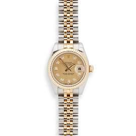 Rolex: a lady's bi-colour wrist watch
