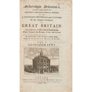 Lhuyd, Edward Archaeologia Britannica