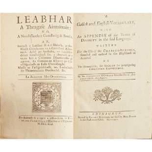 Macdonald, Alexander Leabhar a Theagasc Ainminnin / A