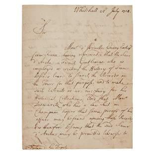 Bolingbroke, Henry St John, Viscount, 1678-1751 Letter
