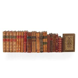 19th Century leather bound volumes a quantity,