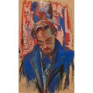§ WILLIAM CROSBIE R.S.A. (SCOTTISH 1915-1999) PORTRAIT