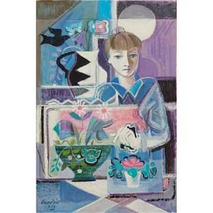 § WILLIAM CROSBIE R.S.A. (SCOTTISH 1915-1999) GIRL