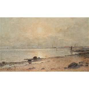DUNCAN CAMERON (SCOTTISH 1837-1916) MORNING AT JOPPA