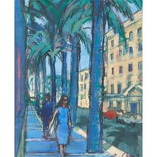 § ANN ORAM R.S.W. (BRITISH 1956-) STREET, CADIZ