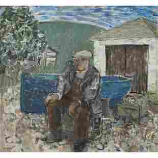 § JOHN G. BOYD R.P., R.G.I. (SCOTTISH 1940-2001) BLUE