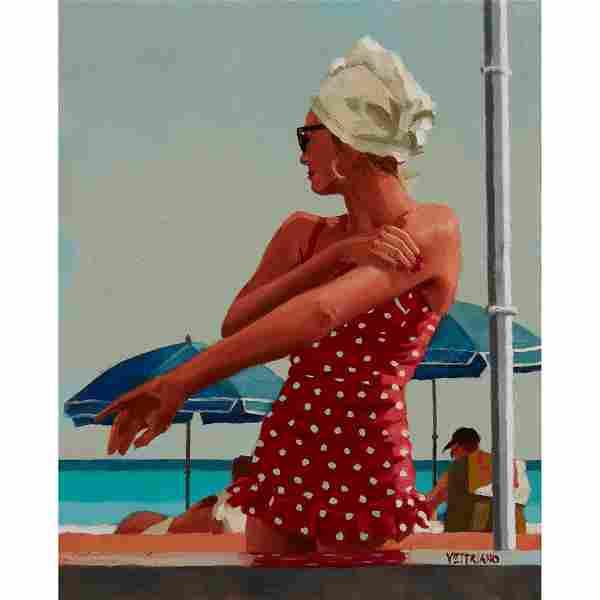 § JACK VETTRIANO (SCOTTISH 1951-) ARRANGEMENT IN RED,