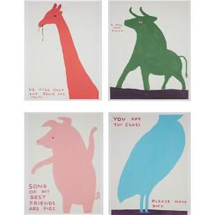 § DAVID SHRIGLEY O.B.E. (BRITISH 1968-) ANIMALS SERIES