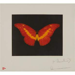§ DAMIEN HIRST (BRITISH 1965-) TO LOSE (RED BUTTERFLY)