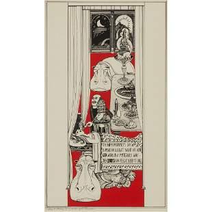 § ALASDAIR GRAY (SCOTTISH 1934-2019) THE SCOTS HIPPO