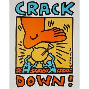 KEITH HARING (AMERICAN 1958-1990) CRACK DOWN