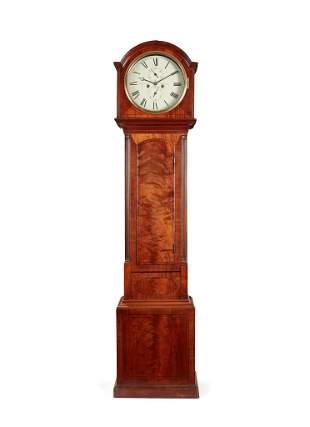 A REGENCY LONGCASE CLOCK BY J. BRECKENRIDGE, EDINBURGH