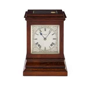 Y A MANTEL CLOCK BY HAMILTON & INCHES, EDINBURGH EARLY