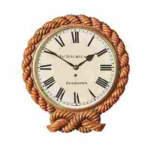 A SCOTTISH VICTORIAN WALL CLOCK BY JAMES RITCHIE &
