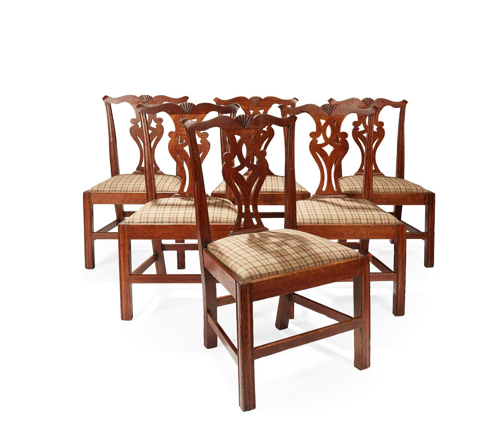 A SET OF SIX DINING CHAIRS BY WHEELER OF ARNCROACH