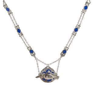 IONA - A SCOTTISH PROVINCIAL SILVER AND ENAMEL NECKLACE