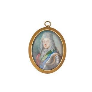 A PORTRAIT MINIATURE OF KING JAMES III UNSIGNED