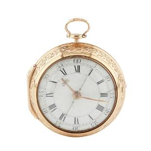 A LATE 18TH CENTURY GOLD PAIR CASE POCKET WATCH KENTISH