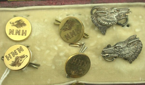 3: Four North Northumberland Hunt gilt metal buttons,