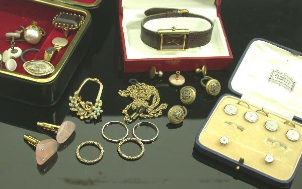 7: Must de Cartier - a lady's silver gilt wristwatch,