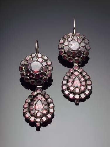 9: A pair of 18th/19th century girandole earrings,   se