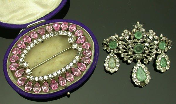 12: An 18th/19th century girandole brooch/pendant,   of
