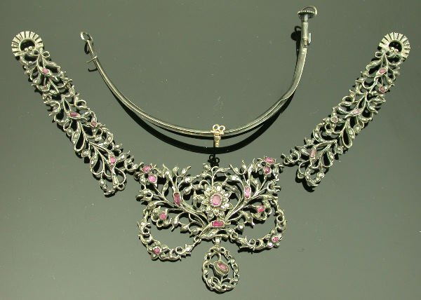 20: A ruby and diamond set tiara (A.F.),   of pierced f
