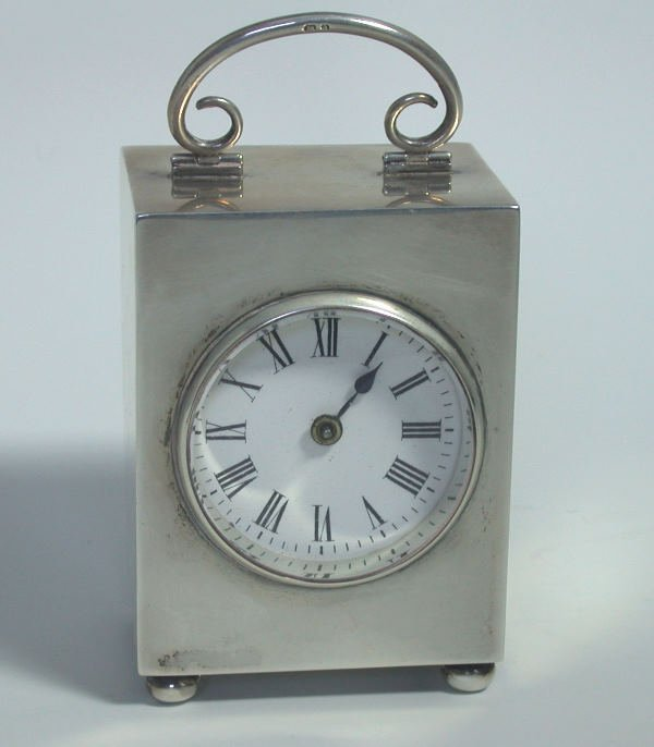 25: A late Victorian carriage clock,  with marks for Bi