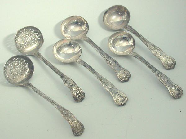 34: A George IV set of four King's pattern sauce ladles