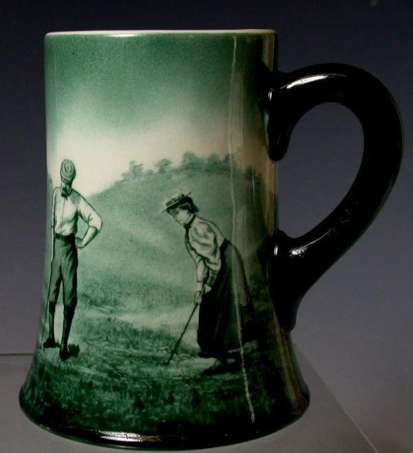 1: A Lenox pottery tankard,