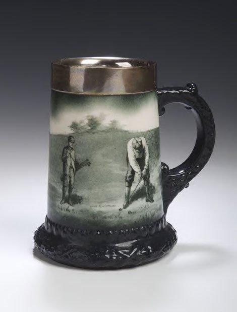 2: A Lenox pottery tankard,
