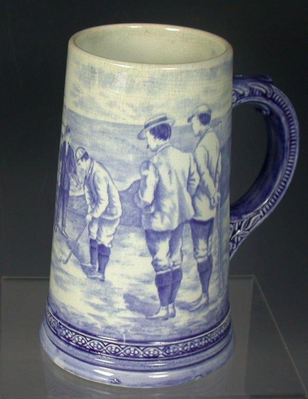5: A Royal Bonn pottery tankard,