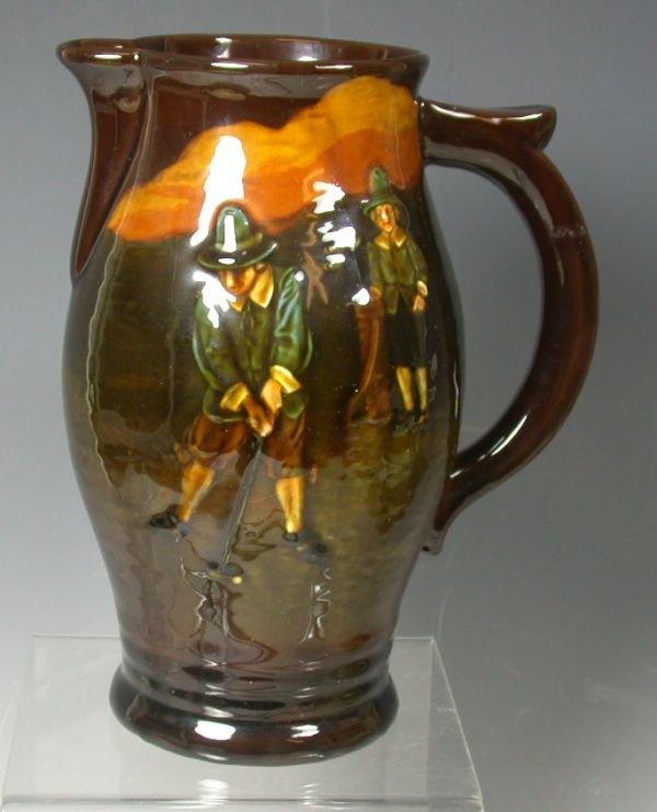 9: A Royal Doulton Kingsware jug,