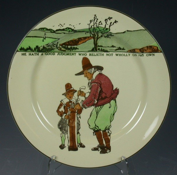 18: A Royal Doulton Series ware plate,