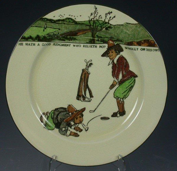 19: A Royal Doulton Series ware plate,