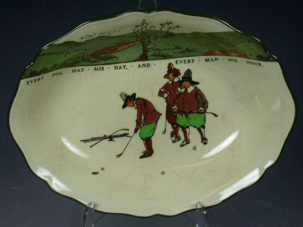 20: A Royal Doulton Series ware oval bowl,