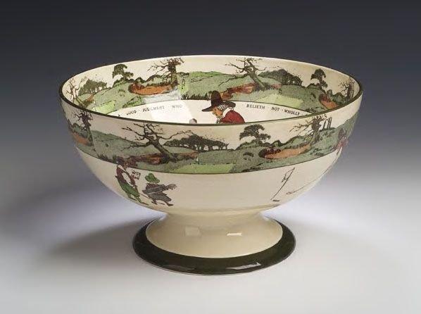 21: A large Royal Doulton Series ware punch bowl,