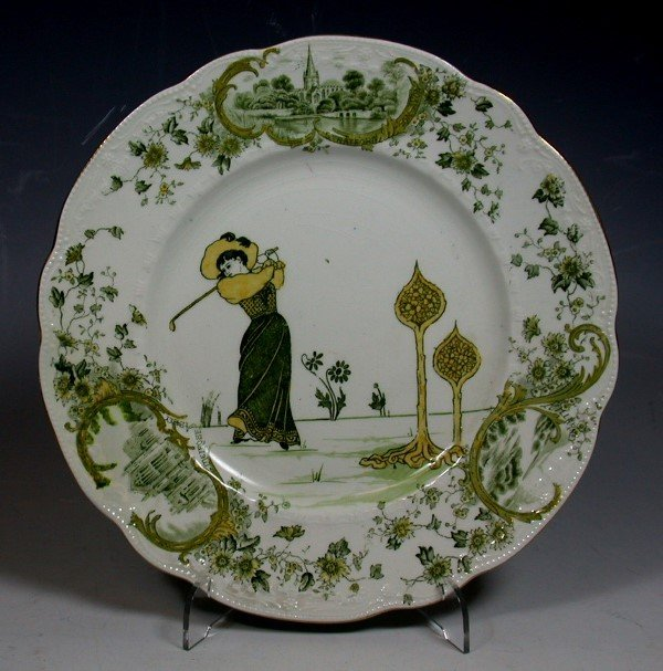 22: A Royal Doulton Golfers Series ware plate,