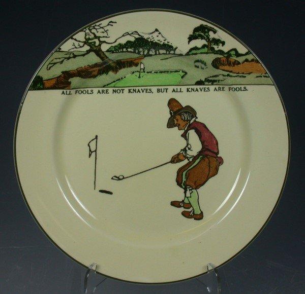23: A Royal Doulton Series ware plate,