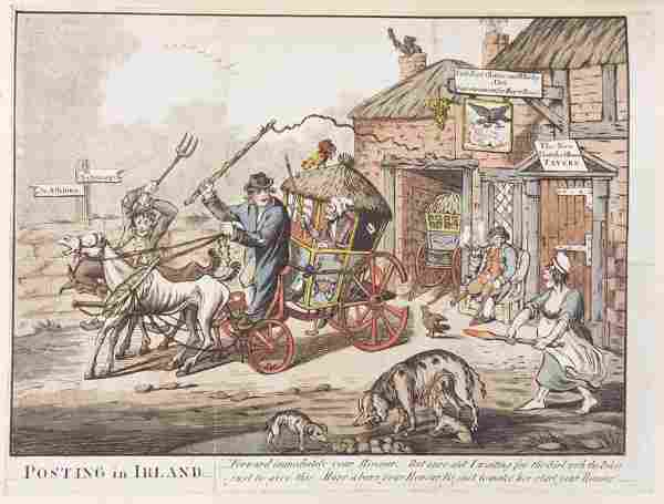 1453: [Rowlandson, Thomas] A collection of c.180 etchin