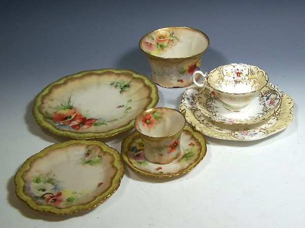 11: A Nautilus Porcelain part tea set,of lobed and moul