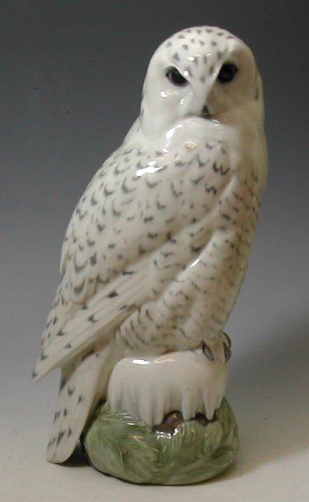 16: A large Royal Copenhagen porcelain figure of an owl