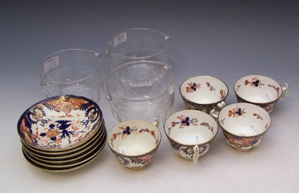 22: A 19th century set of six double lipped faceted win