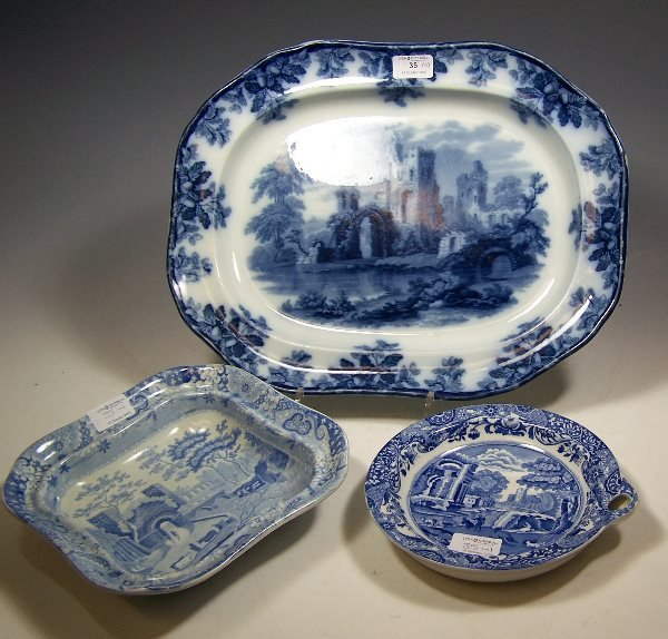 35: A 19th century Copeland Late Spode meat dish,and a