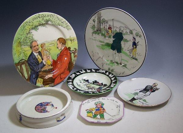 201: A Royal Doulton plate 'The Nineteenth Hole',decora