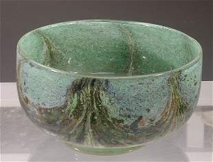 A rare Monart stoneware bowl,of circular